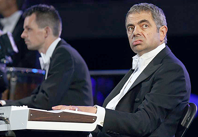 Mr. Bean in action at the opening ceremony. Net Photo