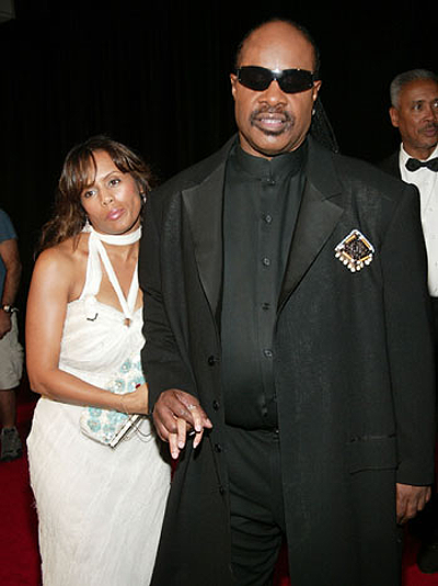 Steve Wonder and wife Kai in happier times. Net photo