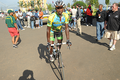 Team Rwanda captain Nathan Byukusenge did not have a memorable race after finishing 64th, the worst position for the team. The New Times / File.