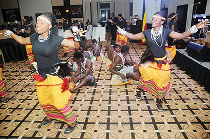 Traditional dancers doing what they know best. Photos/John Mbanda.