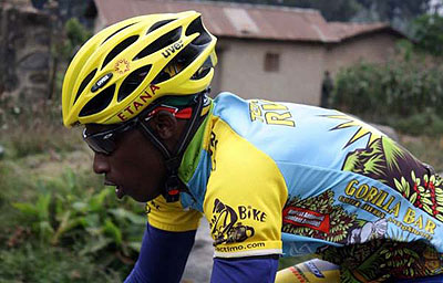 Rider Nathan Byukusenge at a past race .The New Times / Courtesy.