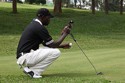 FOCUSED: Ruterana says his continued failures in the Kenya Open are a result of poor preparations and not being a bad golfer. The New Times/ File.