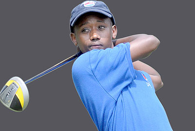 Aphrodis Nyirinkwaya is aiming to finish higher in the Burundi Golf Open tournament. Saturday Times/Courtesy.