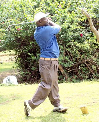 STEADY: Dismas Ndiza of Kenya had an incredible first day of Burundi Open. The New Times/ H.Nkuutu.