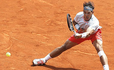 Nadal beats Daniel Brands at French Open 2013. Net photo.