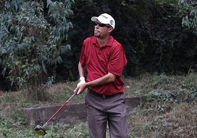 Richard Ainley lead the Burundi Open by one shot going into today's final round. File photo.