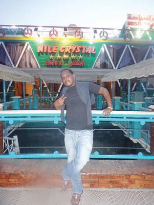 The writer before the cruise. The New Times/ B. Kimenyi