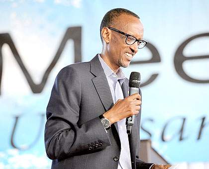 President Paul Kagame yesterday met women at the first Abagore #MeetthePresident session in Kigali. The President  noted that Rwandans cannot claim to be on the path to transformation if women are excluded, yet they constitute more than 50 per cent of the population. The women, representing different women groups across the country, praised the inclusive policies introduced under the leadership of the President. Saturday Times/ Village Urugwiro.
