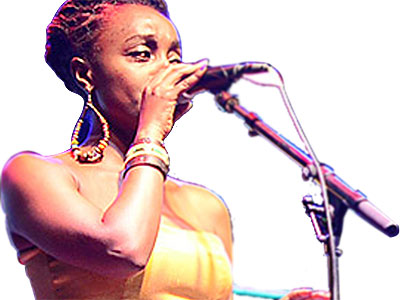 Rwandan singer Shanel takes to the stage.