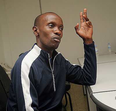 Hermas Cliff Muvunyi is primed for a medal in 800m today. The New Times / Courtesy.