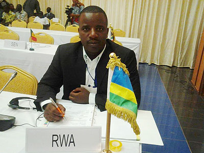 Alfred Twahirwa, the local handball federation's Secretary General.
