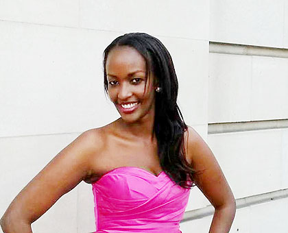 Keza is alleged to have been stabbed three times by a former Ugandan partner. Courtesy.
