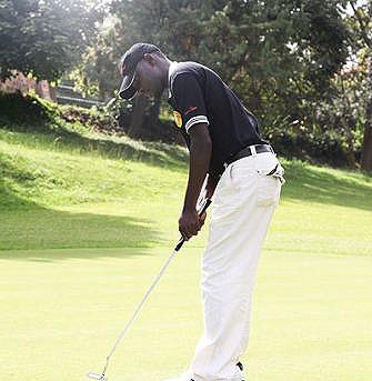 Emmanuel Ruterana didn't do well at the just concluded KCB Kenya Golf Open but was happy with his performance. Times Sport/File.