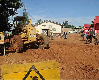 Road construction. Under Imihigo, each district, in consultation with specific central government unit, sets its own targets.  The News Times /  File.