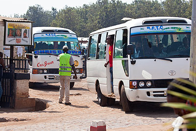 Some of the public buses plying the Kigali routes.  The New Times/Courtesy.