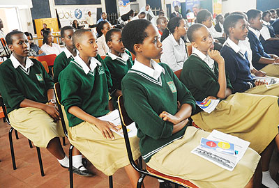 Students attending class. Head teachers want the government to increase the fees it pays for FARG students to enable schools operate normally. The New Times/ J. Mbanda.