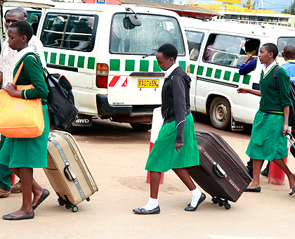 Students return to school. Most parents with students in private city schools will pay more fees than in previous years. The New Times/ File.