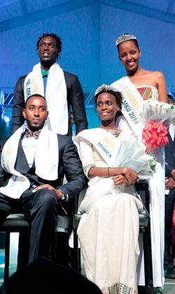 Winners of Mr and Miss MKU 2014 and their respective runners-up.