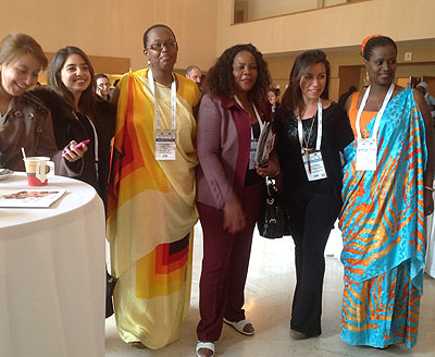Rwandan businesswomen pose for a photo with their Turkish counterparts. The New Times / Doreen Umutesi