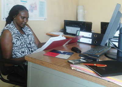 Gasana has defied the tough times to succeed in the male dominated clearing and forwarding business. The New Times / Peterson Tumwebaze.