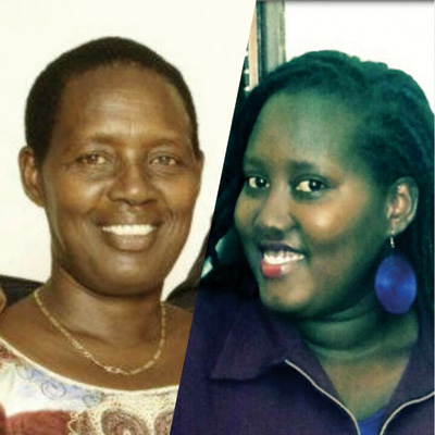 Mbabazi (R) and her mother