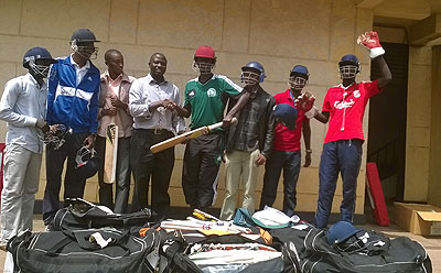 Teachers of the different schools pose with the equipments from RCA. Courtesy