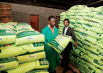 The government privatised importation and distribution of fertilisers last year.The New Times / File.