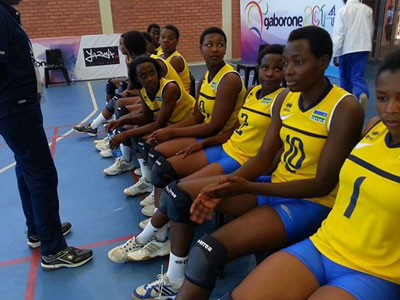 Grace Niyigena (1) and Seraphine Mukantambara (10) were top performers as they helped Rwanda assume medal bracket in Gaborone yesterday. (Bonnie Mugabe)