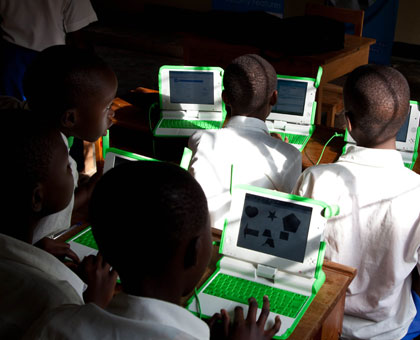 Pupils use the OLPC laptops in class last year. FIle.