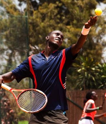 Top seed Jean Claude Gasigwa is primed for Kenya Tennis Open title. File