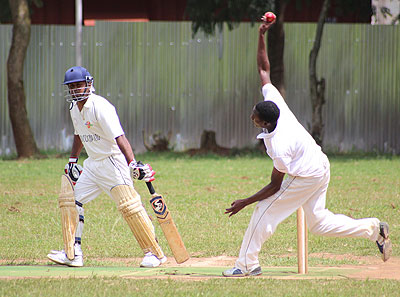 Indorwa's Vinit Chauhan makes a start as a Victory CC bowler bowls during Sunday semi-final clash. Courtesy