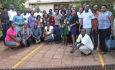 Participants in a group picture after the seminar last week. Courtesy.