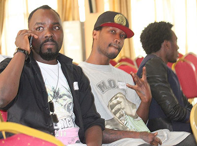 Local celebrities Mc Tino, Pacson and Arthur Nkusi also gave it a shot