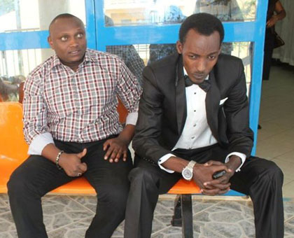 Top film actors Willy Ndahiro (L) and Daniel Gaga. The gala seeks to recognise talent. (Courtesy)