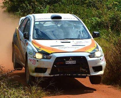Giancarlo Davite and Sylvia Vindevogel in their Miss Evo 10 in a past rally championship. (Courtesy)