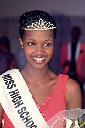 BEAUTY QUEEN: Barbine Umutoni was crowned as the first ever Miss High School