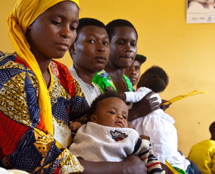 Mothers await services at Busanza Health Centre in Kigali recently. (Timothy Kisambira)