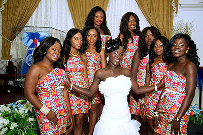 The Kitenge is unique, especially when it comes to bridesmaid dresses.
