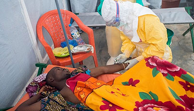 Ebola is a viral illness whose initial symptoms can include a sudden fever, intense weakness, muscle pain and a sore throat, according to the World Health Organisation. Net photo.