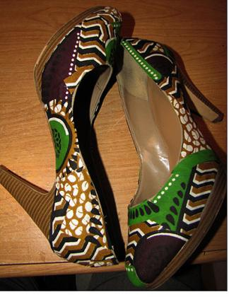 The Kitenge is unique, and because of this, people have gotten creative with the material, hence the birth of the Kitenge shoe.