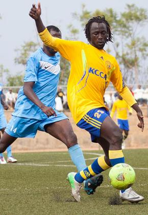 Omony, right, is reported to be demanding $50,000 to make a move to Rayon Sports. Timonth Kisambira.
