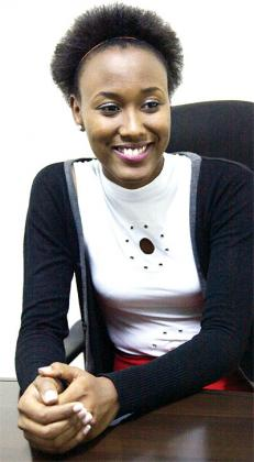 Akiwacu during an interview after she was crowned Miss Rwanda at the New Times offices early year. The New Times/File