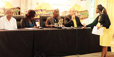 The panel of Judges during the 2013 Groove Awards.