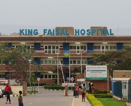 The front view of King Faisal Hospital. The number of people seeking medical services at hospital keeps growing every year. (Ivan Ngoboka)