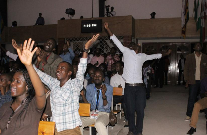 The crowd was thrilled and put up their hands as they worshipped (Stephen Kalimba)