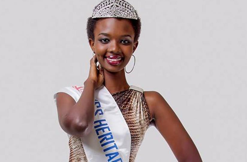 Miss Rwanda 2014 second runner up Marlene Mutoniwase (Phot/Timothy Kisambira)