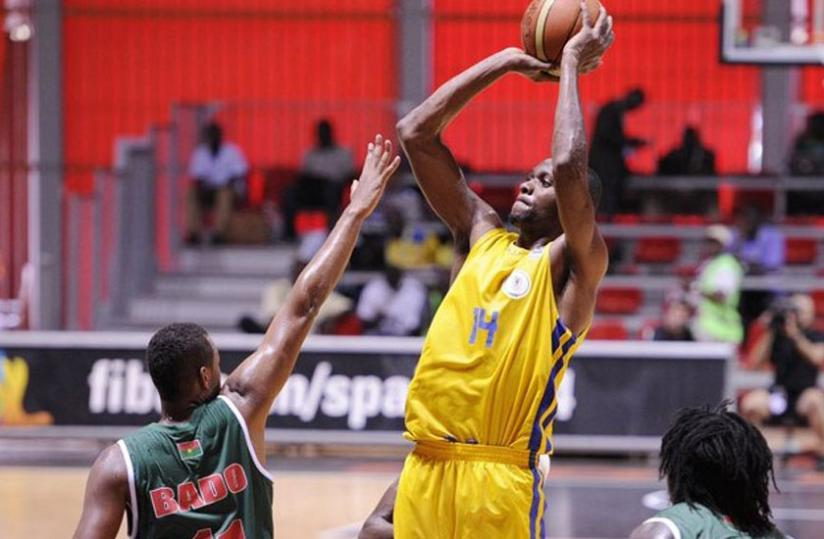 Forward Kami Kabange, seen in action at the 2013 Fiba Afrobasket tournament, will be vital for Rwanda at the zonal tournament in Uganda where he plays his club game for City Oilers. (File photo)