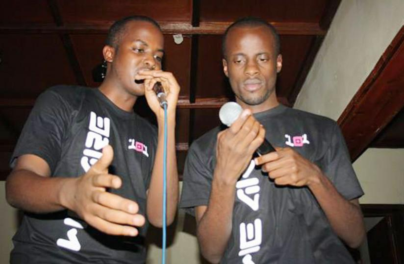 (L-R) J-Dub and Don Nova at the launch of their mixtapes DTMIY, last year. (Courtesy photo)