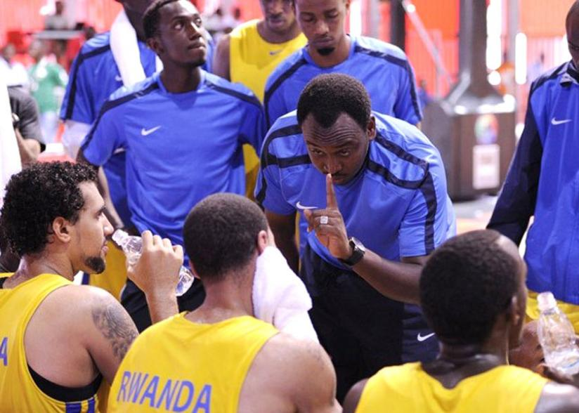 Head coach Moise Mutokambali could not guide Rwanda to a fifth Afrobasket final. Rwanda finished third in the Zone V qualifiers in Kampala. (Courtesy)