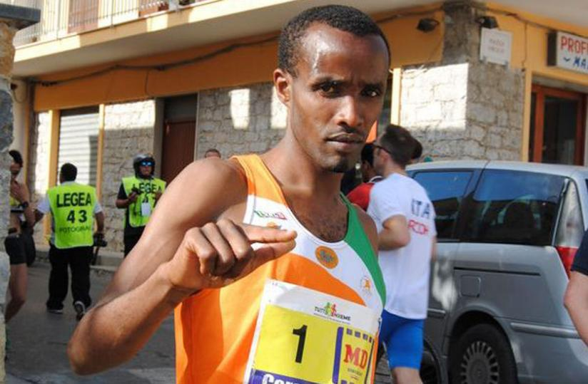 Eric Sebahire leads Rwanda's team of four athletes into this year's Dar Rotary Marathon. (File photo)